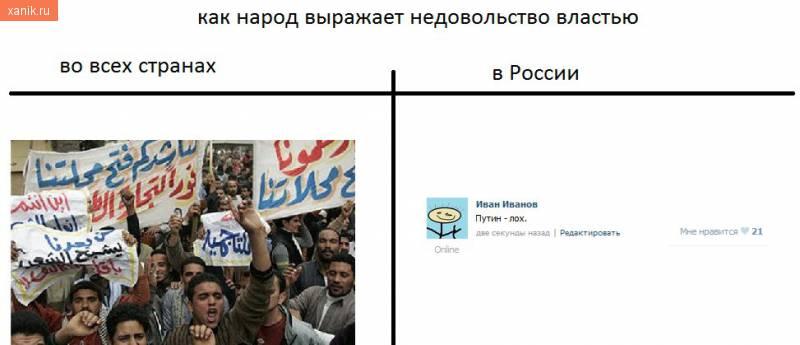 Как народ выражает недовольство властью в мире и в России