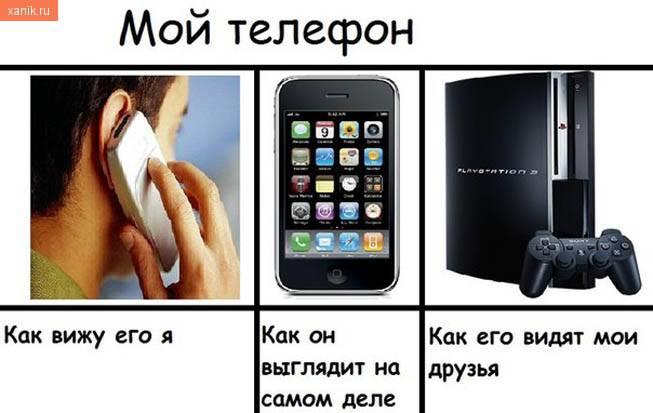 Мой телефон. Как вижу его я и мои друзья