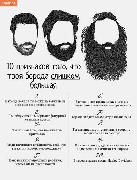 10 признаков того, что твоя борода слишком большая